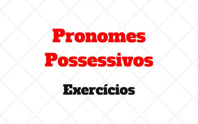 Pronomes Possessivos alemao