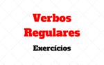 Verbos Regulares Exercícios