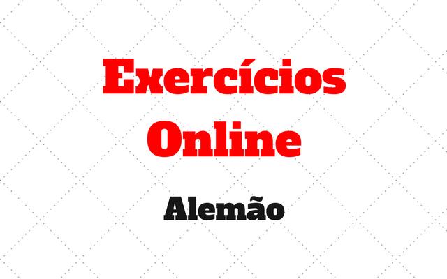 exercícios online alemao