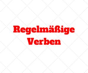 Verbos Regulares – Regelmäßige Verben: Conjugação e Terminações