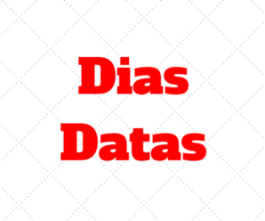 Daten und Tage – Datas e Dias da semana em Alemão