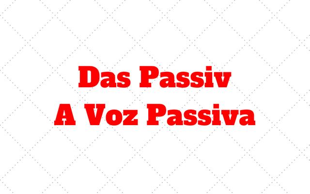 voz passiva no alemao