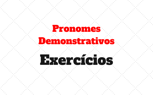 Pronomes Demonstrativos atividades alemao